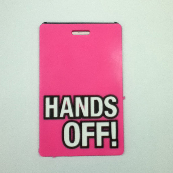 L00359- Hands Off! Luggage Tag