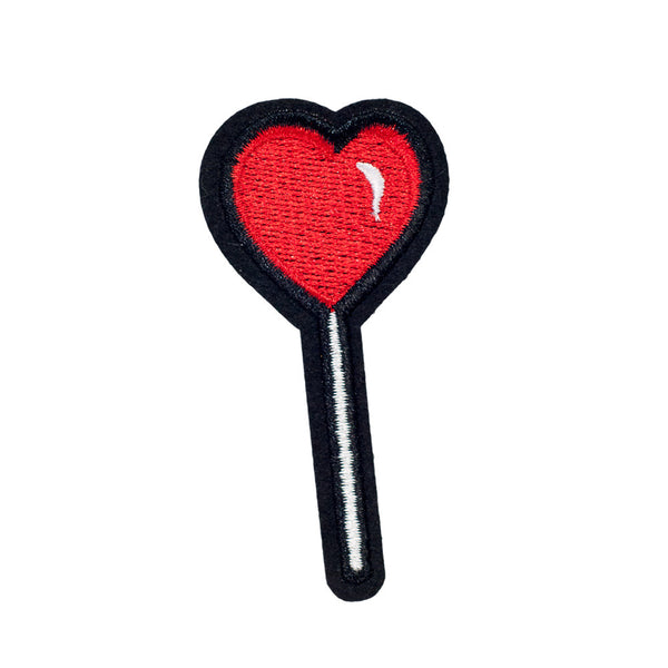 PH982 - Red Heart Lollipop Candy (Iron on)