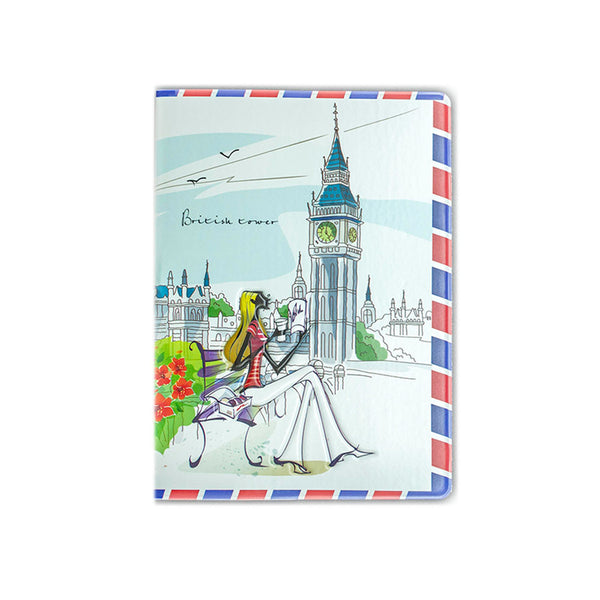 H00030 - British Tower Matte Passport Holder