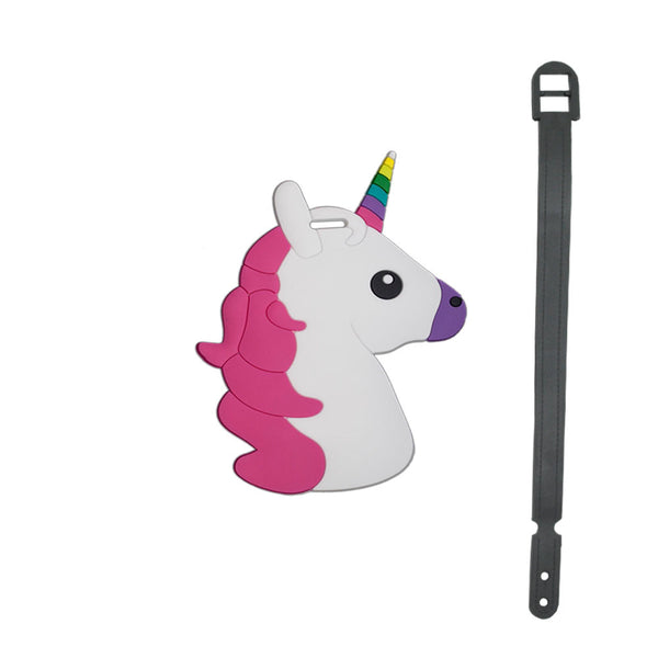 L00363 - Rainbow Unicorn Luggage Tag
