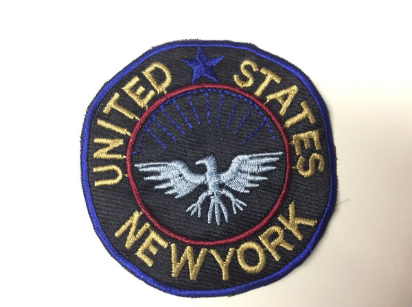 Pt usa newyork sew on embroidery applique patch koo style