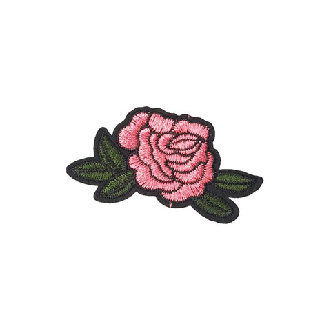 PC2169B - Small Pink Rose (Iron On)