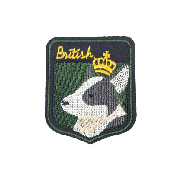 PC3594 - British Bull Terrier Dog Crown (Iron On)