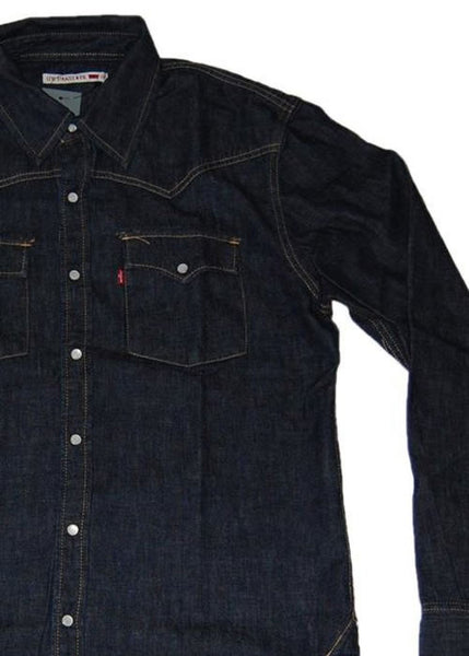 DARK BLUE VINTAGE A GRADE , LEVIS, WRANGLE, LEE, CARRERA AND SIMILLAR DENIM SHIRTS