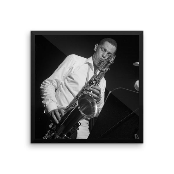 "Dexter Gordon High Resolution Framed Blue Note Session Photo (""Club House"" 1965)"
