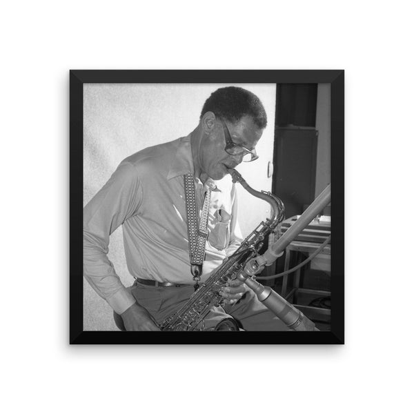 "Dexter Gordon Framed Session Photo - ""Manhattan Symphony"" (Columbia Records 1978)"