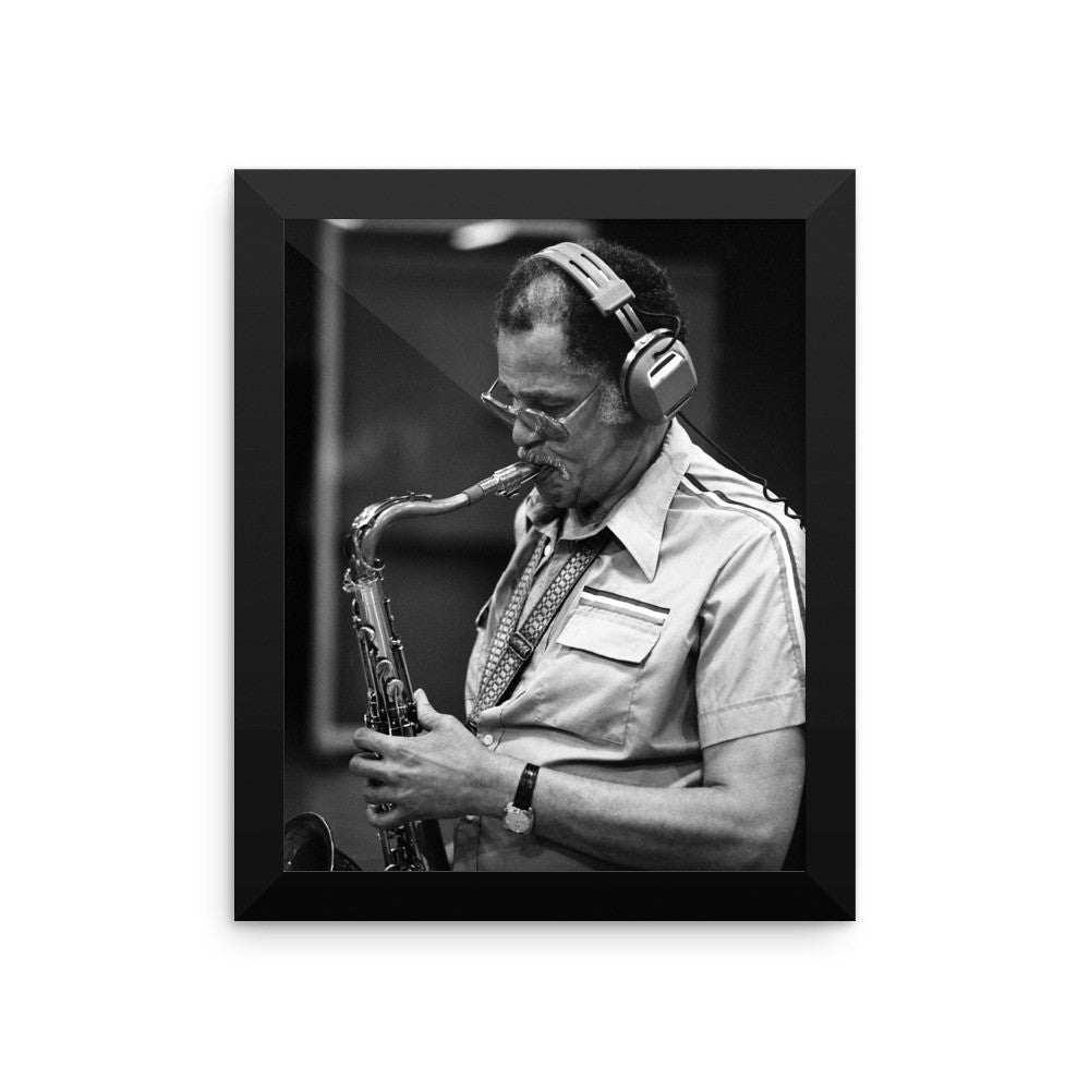 Dexter Gordon Framed Session Photo (Columbia Records 1978)