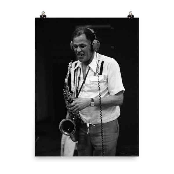 "Dexter Gordon Session Photo - ""Gotham City"" (Columbia Records 1981)"