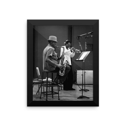 "Dexter Gordon & Woody Shaw Framed Session Photo - ""Gotham City"" (Columbia Records 1978)"