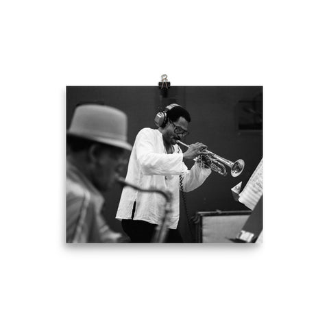 "Dexter Gordon & Woody Shaw Session Photo - ""Manhattan Symphony"" (Columbia Records 1981)"