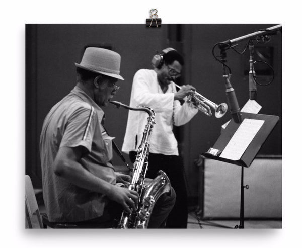 "Dexter Gordon & Woody Shaw Print - ""Gotham City"" (Columbia Records 1978)"