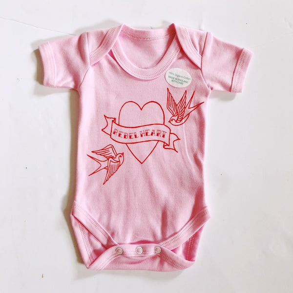 REBEL HEART BODYSUIT - SAMPLE - 0-3 MONTHS