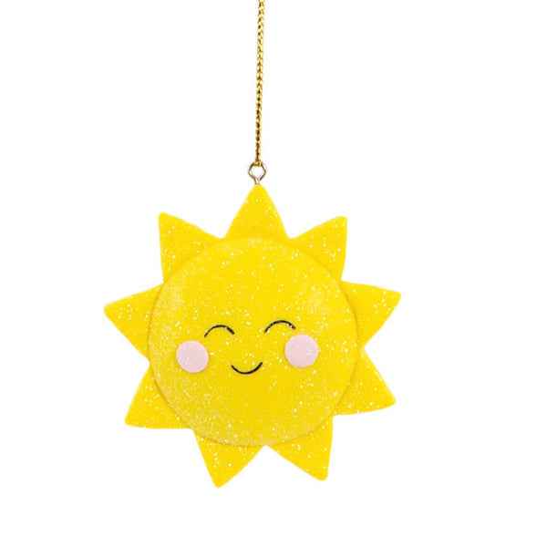 CLAY SHIMMER SUNSHINE HANGING DECORATION