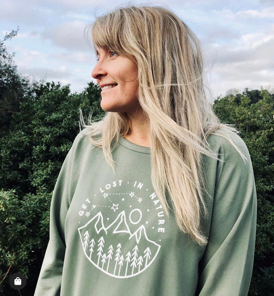 GET LOST IN NATURE LADIES SWEATSHIRT
