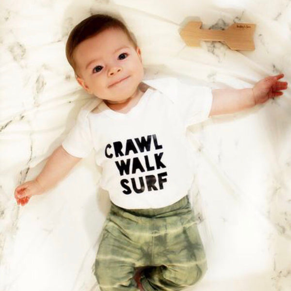 CRAWL WALK SURF BODYSUIT