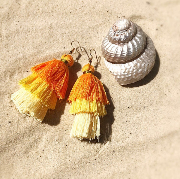 TIERD TASSLE EARRINGS