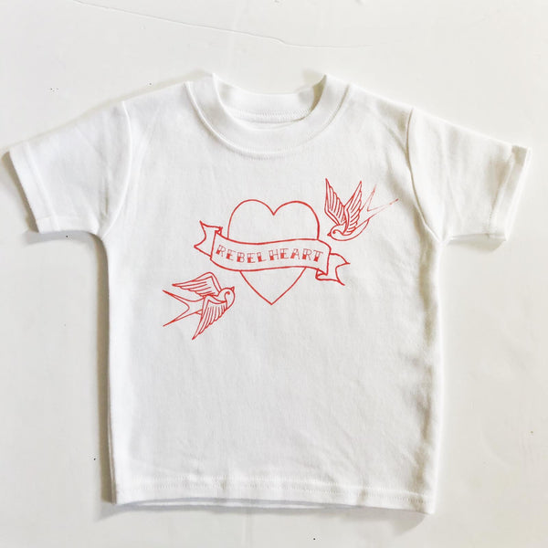REBEL HEART TEE - SAMPLE - 3-4 YEARS