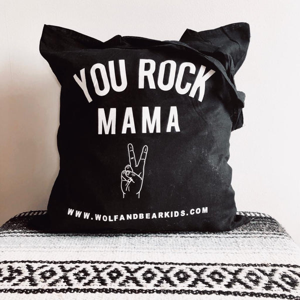 YOU ROCK MAMA BEACH TOTE