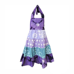 Girls Gypsy Dress - Violet Patchwork - Global Mamas (C)
