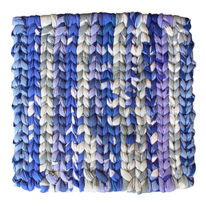 Recycled Fabric Woven Trivet Blue - Global Mamas (T)