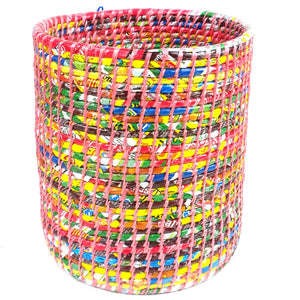 Recycled Waste Basket Pink - Jeevankala (Basket)