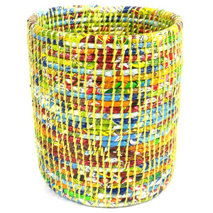 Recycled Waste Basket Yellow - Jeevankala (Basket)