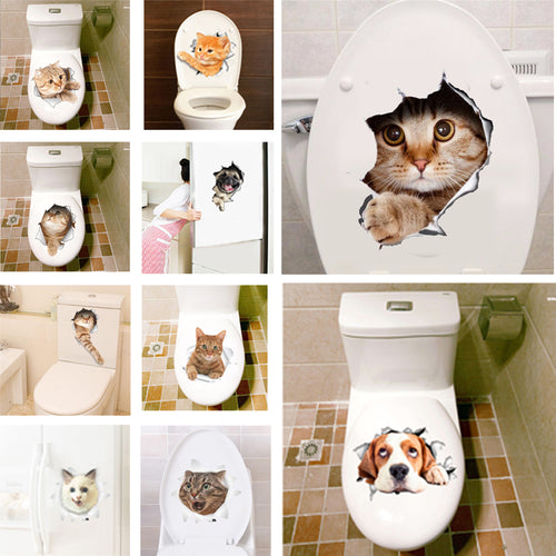 Cat and Dog Wall Sticker Decals