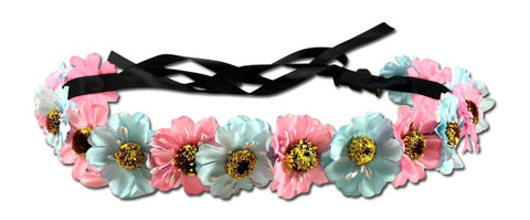 Light Up Pink and Blue Flower Crown