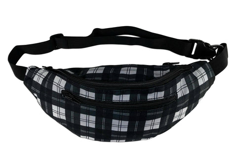 Black Checkered Rave Fanny Pack