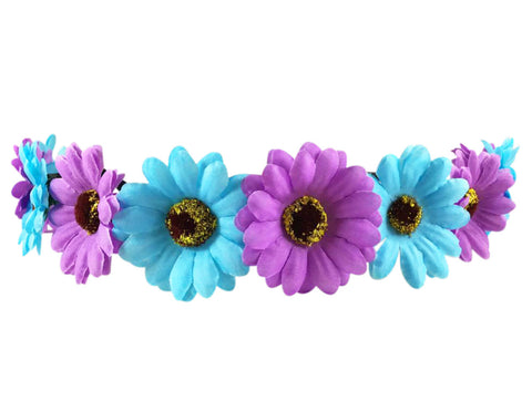 Light Up Blue and Purple Flower Crown