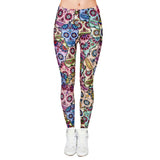 Day of the Dead Printed Leggings