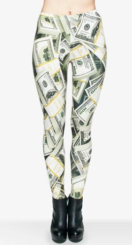 Money Printed Leggings
