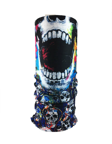 Colorful Multi Skull Rave Bandana Multifunctional Seamless Mask