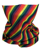 Striped Rainbow Rave Bandana Multifunctional Seamless Mask