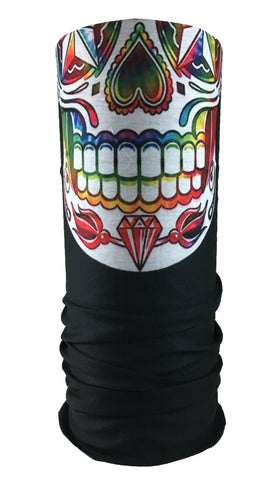 Rainbow Skull Rave Bandana Multifunctional Seamless Mask