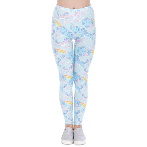 Rainbow Unicorn Printed Leggings