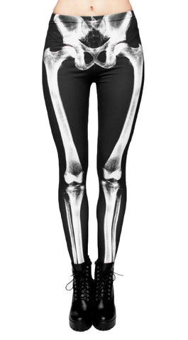 Skeleton Bone Printed Leggings