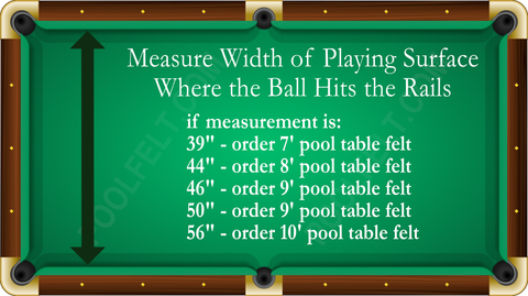 Measure Pool Table Size Poolfelt Com