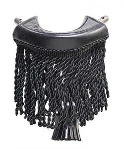 Black Fringe Pockets