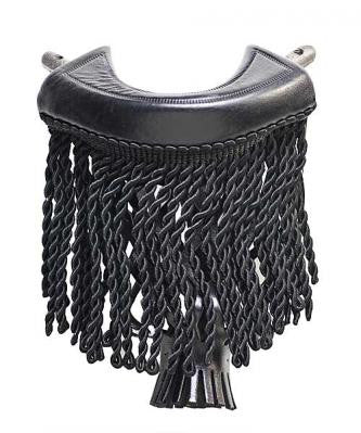 Black Fringe Pocket