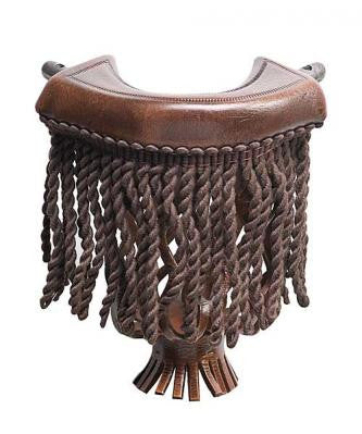 Dark Brown Fringe Pockets
