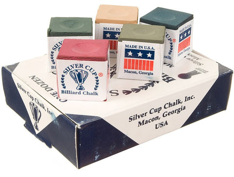 Silver Cup Cue Chalk (12 count Box)
