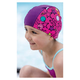 Fashy Childrens Lycra Fabric Swimming Cap in Assorted Colours For Girls