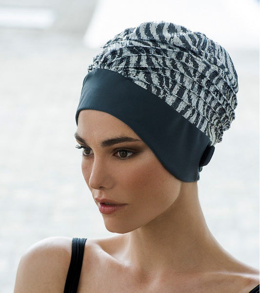 fashy turban swimming cap with adjustable strap
