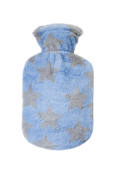 small mini hot water bottle and soft plush cover