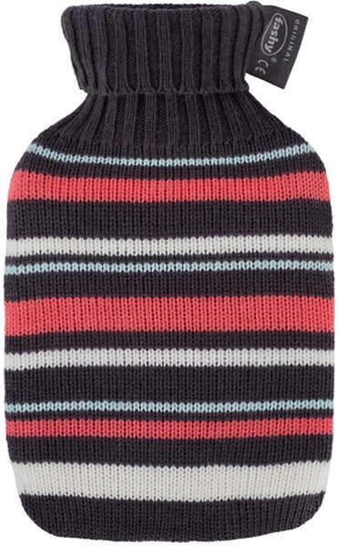 fashy mini hot water bottle and stripe cover
