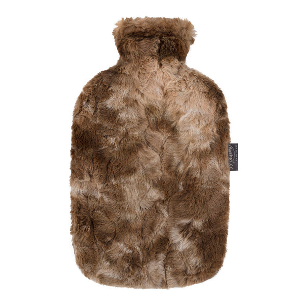 fashy calf design faux fur hot water bottle