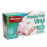 100 Extra X Large Disposable Vinyl Gloves Non Latex Powder-Free