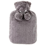 Hot water bottle and faux fur cover in  grey