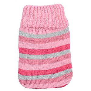 mini reusable gel pocket hand warmer and knitted cover